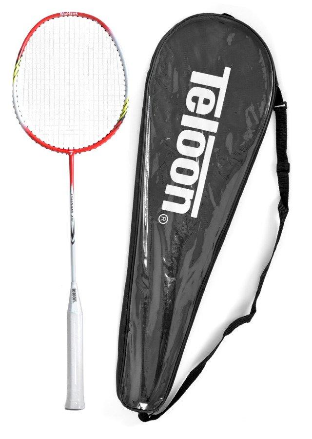 Badmintonová raketa TELOON TSUNAMI TL300 white/red